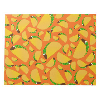 Orange tacos memo notepads