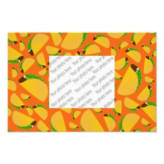 Orange tacos photo print