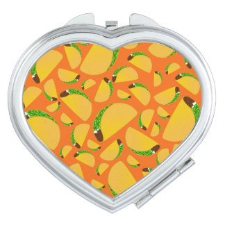 Orange tacos compact mirrors
