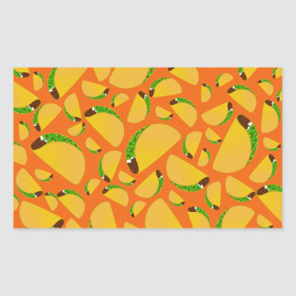 Orange tacos rectangular sticker