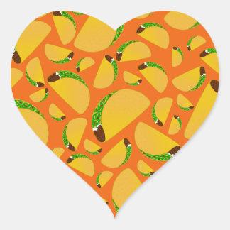 Orange tacos heart sticker