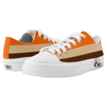 Orange Tan and Brown Striped Lo-Top
