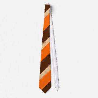 Orange Tan and Brown Tie