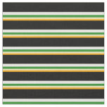 [ Thumbnail: Orange, Tan, Forest Green, White & Black Colored Fabric ]