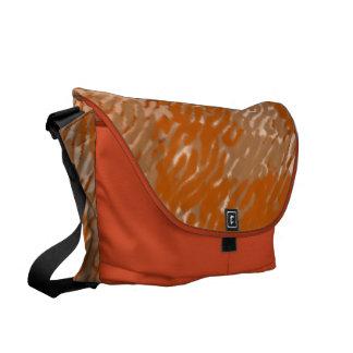 Orange/Tan Splash Courier Bag