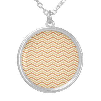 Orange, Tan, White Chevron Pattern Jewelry