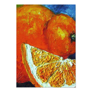 Orange Tangelo Invitations