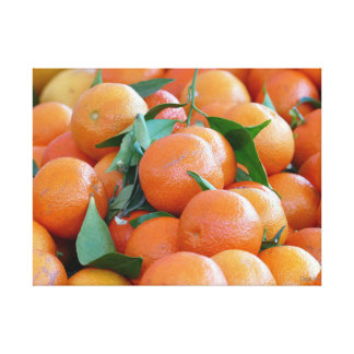 Orange Tangerines Canvas Print