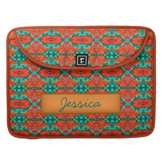 orange teal oriental rug MacBook Sleeve Case Sleeves For MacBooks