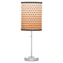 Orange Techno Dots Modern White Table Lamp