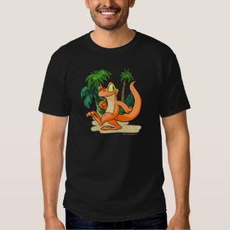 Orange Techo on a Mystery Island quest Tee Shirt