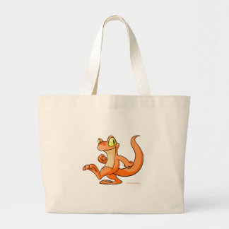 Orange Techo on a quest Large Tote Bag