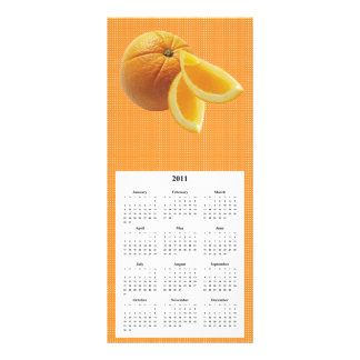 Orange Telephone and Calender card Custom Rack Cards