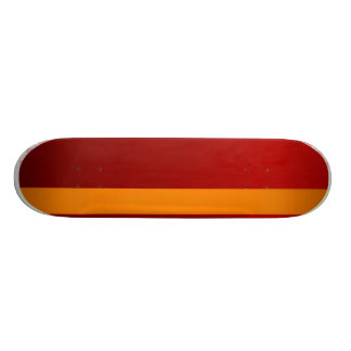 orange template skateboard deck