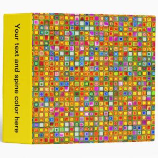 Orange 'Terracotta' Multicolored Tiles Pattern Binders