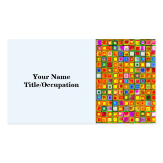 Orange 'Terracotta' Multicolored Tiles Pattern Double-Sided Standard Business Cards (Pack Of 100)