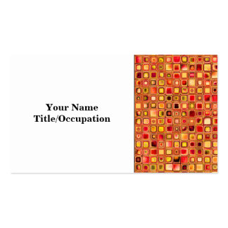 Orange 'Terracotta' Textured Mosaic Tiles Pattern Double-Sided Standard Business Cards (Pack Of 100)