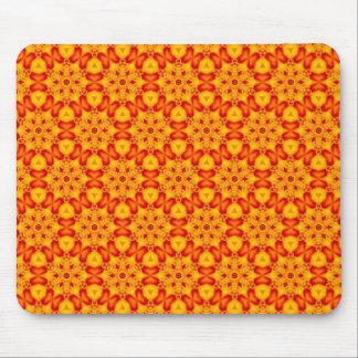 Orange Terrazzo pattern Mouse Pad