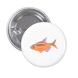 Orange Tetra Fish Pinback Button