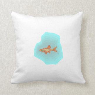 Orange Tetra Fish Throw Pillows
