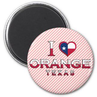 Orange, Texas 2 Inch Round Magnet