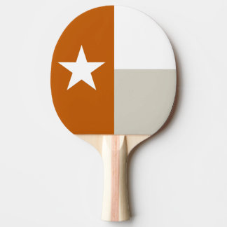 Orange Texas Flag Ping Pong Paddle
