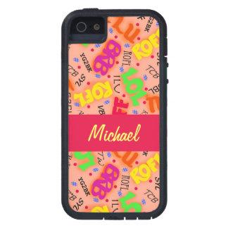 Orange Text Art Symbols Abbreviations Colorful Case For iPhone SE/5/5s