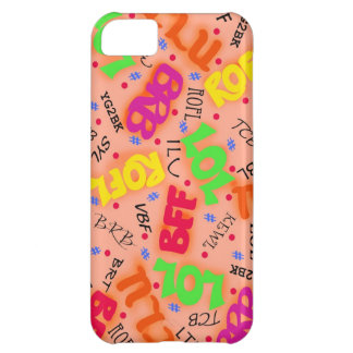 Orange Text Art Symbols Abbreviations Colorful Cover For iPhone 5C