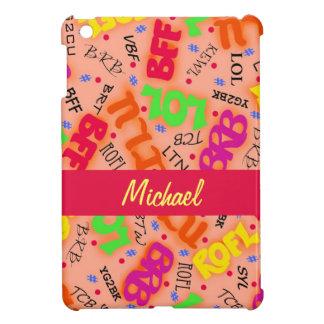 Orange Text Art Symbols Abbreviations Colorful iPad Mini Cases