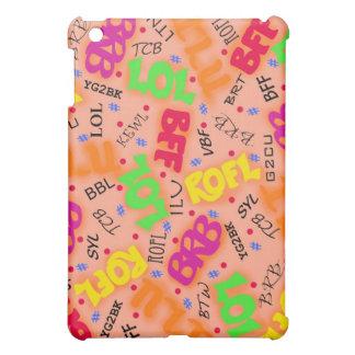 Orange Text Art Symbols Abbreviations Colorful iPad Mini Covers