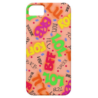 Orange Text Art Symbols Abbreviations Colorful iPhone SE/5/5s Case