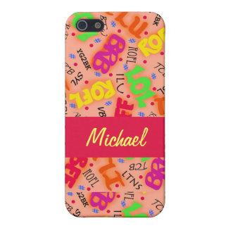 Orange Text Art Symbols Abbreviations Colorful iPhone SE/5/5s Cover