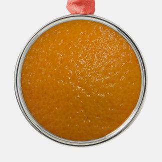 Orange Texture Metal Ornament