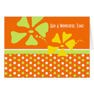 Orange Thank You for Hospitality Card