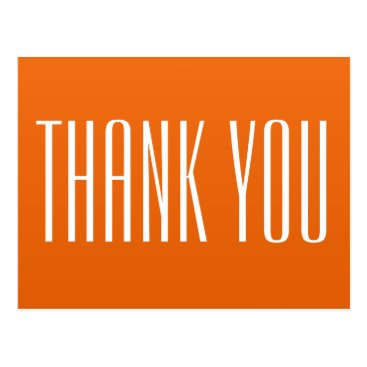Professional Business Orange Thank You Postcard