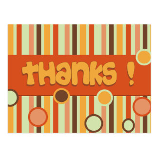 orange thank you postcard