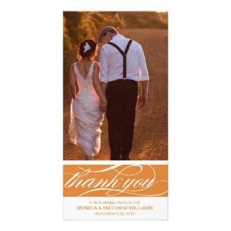 ORANGE THANKS | WEDDING THANK YOU CARD PHOTO CARD