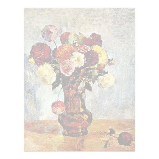 Orange The Dahlias, Paul Gauguin flowers Letterhead