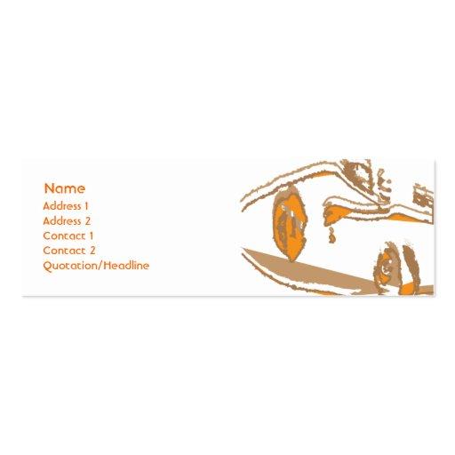Orange Thinking - Skinny Business Card Templates