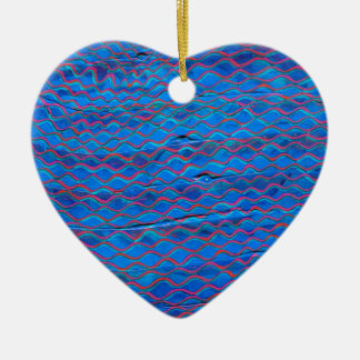 orange threads made blue without you ceramic ornament