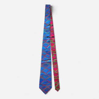 orange threads made blue without you neck tie