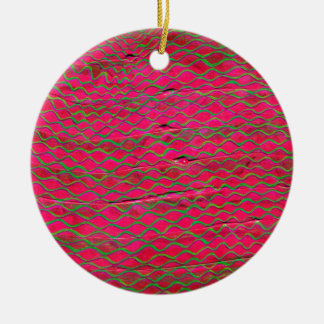 orange threads made green with envy ceramic ornament