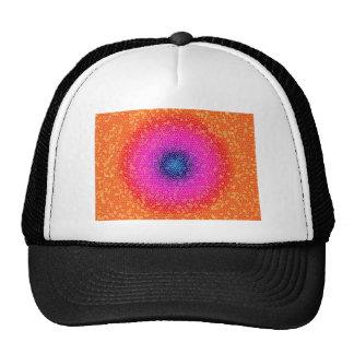 Orange through the net mesh hats