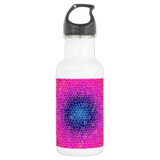 Orange through the net water bottle