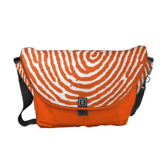 Orange Thumbprint Handmade Messenger Bags