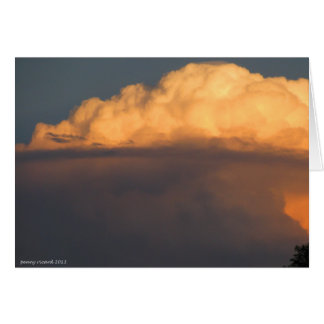 Orange Thunderhead Card