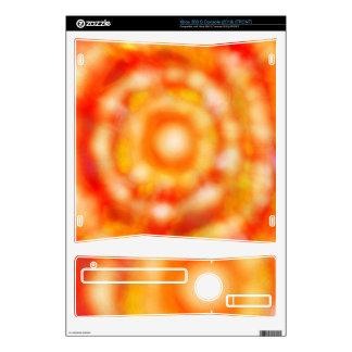 orange tie dye Xbox 360 S (2010) console skin Xbox 360 S Decals