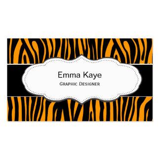 Orange Tiger Animal print business cards