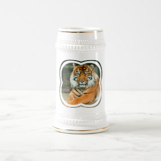 Orange Tiger Beer Stein Coffee Mug