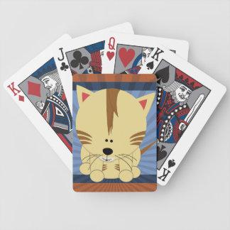 Orange Tiger Cub Playing Cards
